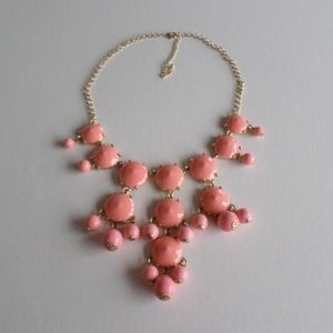 Pink and Gold Bib Necklace