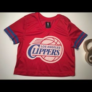 Cropped NBA Clipper Jersey