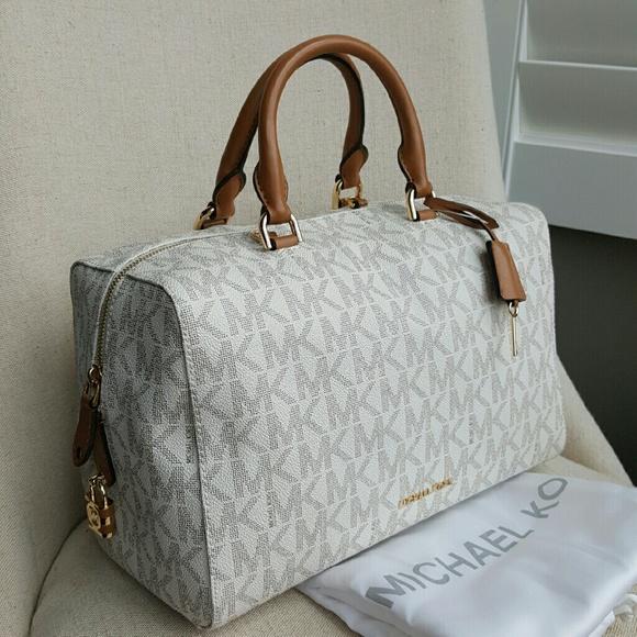 4677c11b1036 Michael Kors Kirby vanilla satchel purse large bag