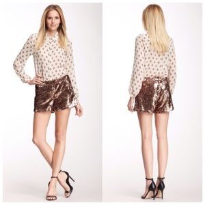 Julie Brown Pants - Julie Brown Gold Sequin Shorts