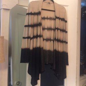 Lapis  Tops - Tie Dye Open Drape Cardigan