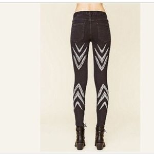 Free People Chevron Ankle Skinny