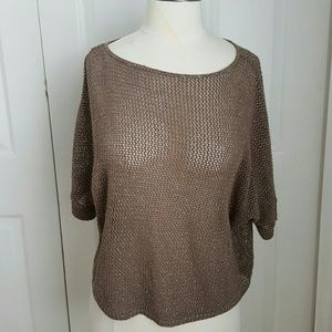 A.N.A Taupe Mesh Crop Top, size PXL