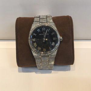Michael Kors crystal glitz stainless watch