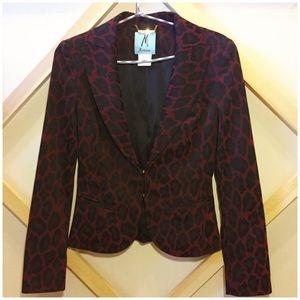Marciano Jackets & Blazers - Marciano Guess Maroon Black Animal Print Blazer 2