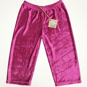 Kickee Pants Other - Kickee Pants Kicky Fuchsia Velour Pants 3T
