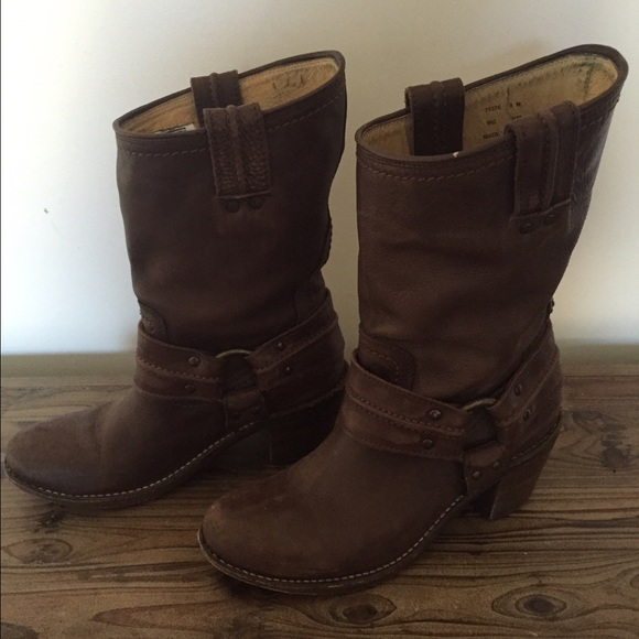 Frye Shoes | Harness Boot Short Size 8 | Poshmark