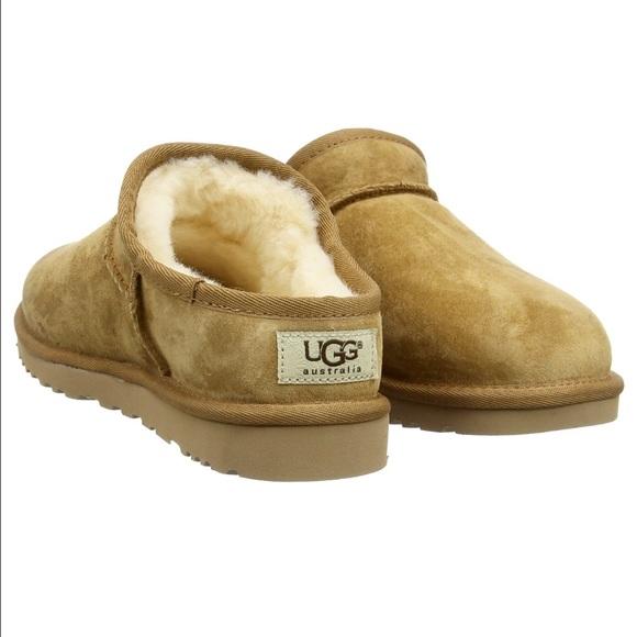 2dbda26a5d5 UGG Classic Slipper Chestnut Brown Fur Suede new
