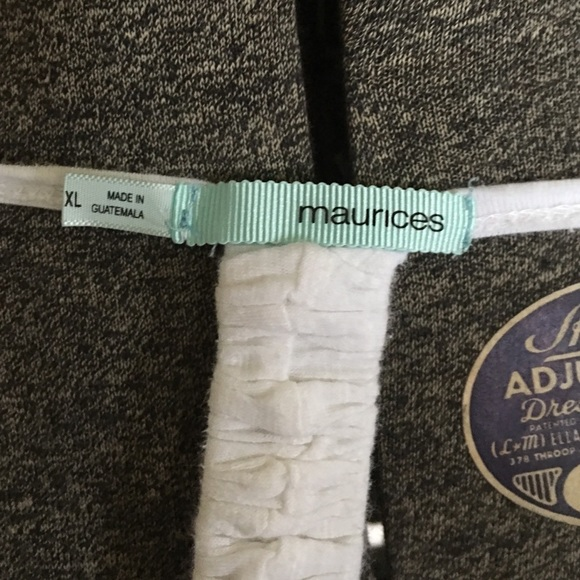 Maurices Tops - White t-shirt with cut out back.