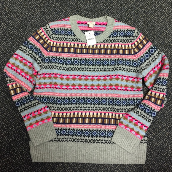 75% off J. Crew Factory Sweaters - J Crew Factory Fair Isle ...