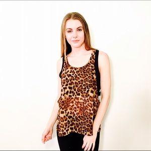 Necessary Clothing Tops - NECCESSARY CLOTHING LEOPARD CHEETAH PRINT TOP #797