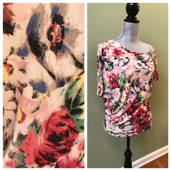 Anthropologie Tops - Anthro Deletta Floral Tee