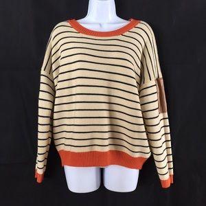 sheinside Sweaters - Sheinside sweater elbow pad Sz m Cream Orange