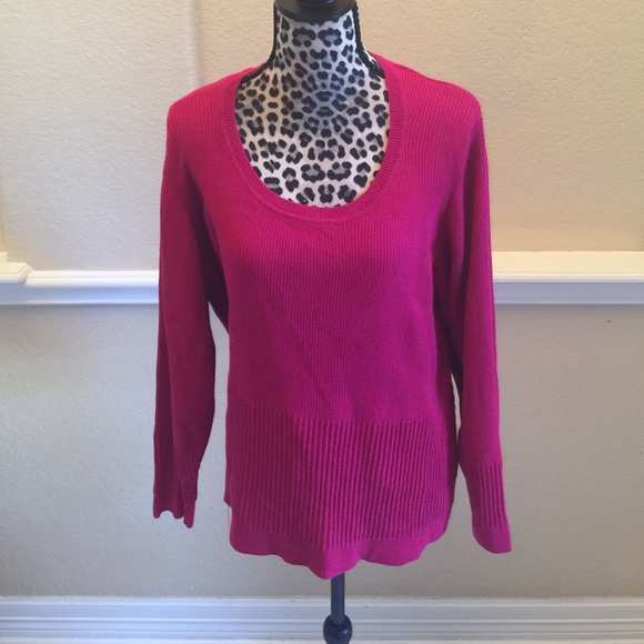 Westbound Woman - Fuchsia pink sweater from Veronica's closet on ...