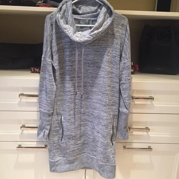 e53db92a8e9 Athleta Dresses   Skirts - Athleta Sweatshirt Dress Blue-Grey Small Tall