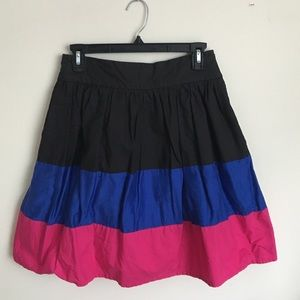 Pink, Blue, Black Striped Skirt