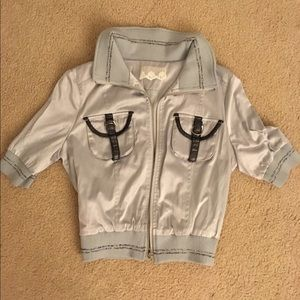Silver Ladies Cropped Jacket
