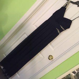 City Studio Dresses & Skirts - Navy Blue One-shoulder Prom Dress