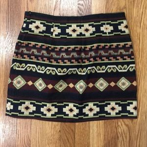 Zara Dresses & Skirts - Zara Aztec Print Skirt!
