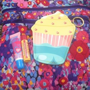Handbags - Cupcake Zip Pouch with Keychain