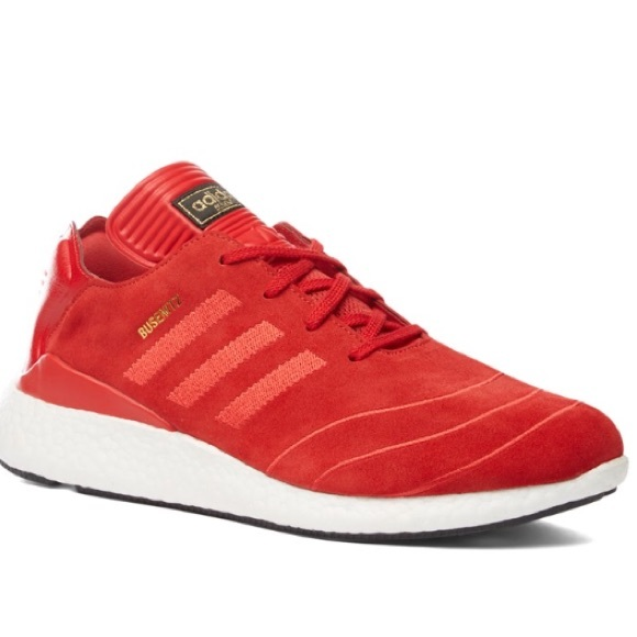 f9c6433fc7fbd Adidas Busenitz Pure Boost Mens Sneakers In Red.