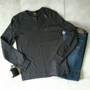 Polo by Ralph Lauren Other - {Polo Ralph Lauren} dark charcoal grey long sleeve