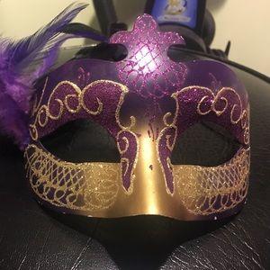 Purple and gold Mardi Gras Mask
