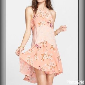  Free People Crescent Print Slip Dress