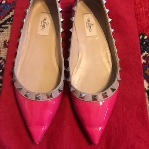 Valentino rockstud flats in pink size 36.5