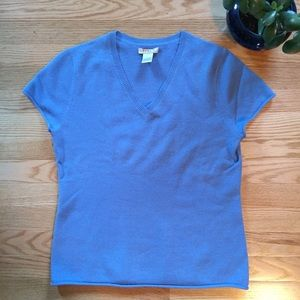 Kenar Sweaters - Kenar 100% Cashmere Short Sleeve V Neck Sweater