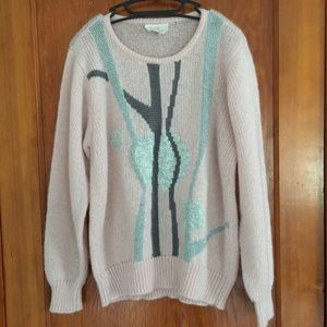VTG pink pastel pullover XL retro 80's sweater