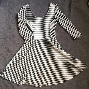 Black & White Lush Skater Dress