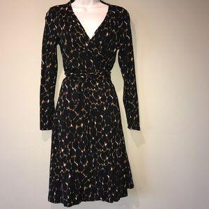 Boden Dresses & Skirts - BODEN animal print wrap dress, 8