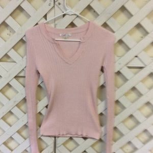 Outlook Sz L light pink pullover Long sleeves top, used for sale