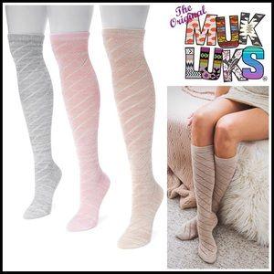 Muk Luks Accessories - ❗️1-HOUR SALE❗️MUK LUKS BOOT SOCKS Over The Knee