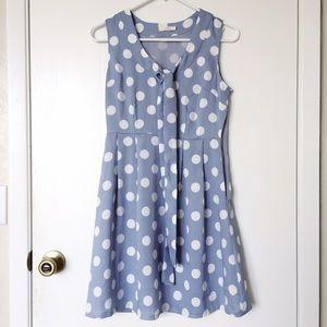 ModCloth Dresses & Skirts - Tulle ModCloth blue polka dot dress size S