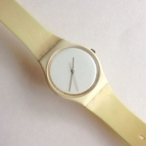 Swatch Accessories - 1987 Vintage Swatch White Out Watch Working ⏱GW07