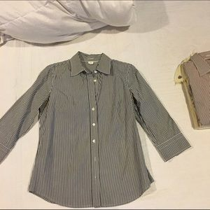 J. Crew Tops - J. Crew Striped Button Down