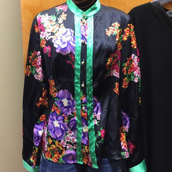 6aedb834d74ba6 D G gorgeous floral silk blouse size 42