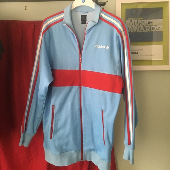 500af7cbcd3b Adidas Other - Adidas firebird track jacket baby blue and red