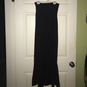 Black cotton maxi skirt