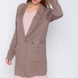 Miilla Clothing Jackets & Blazers - Mocha Knit Blazer
