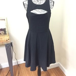 Bar III black front cut out dress