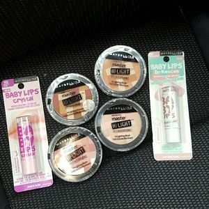 Maybelline Other - Maybelline New York Hi-Lightings & Lip Balms