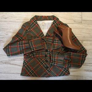Fabulous Vintage Plaid Blazer, EUC!