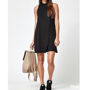 Kendall & Kylie Black Overlay Mock Dress