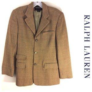 Ralph Lauren Black Label Jackets & Blazers - RALPH LAUREN wool plaid BLAZER Jacket 10 blk label