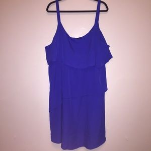 Eloquii Dresses & Skirts - Eloquii Dark Blue Ruffle Dress Plus Size