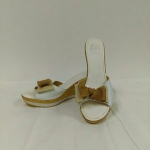 Sotto Sopra Shoes - Sotto Sopra Cork Wedge Sandals Sz. 9