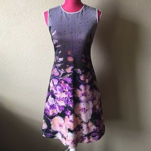 Clover Canyon Dresses & Skirts - Clover Canyon Purple Floral Dress w/white trim